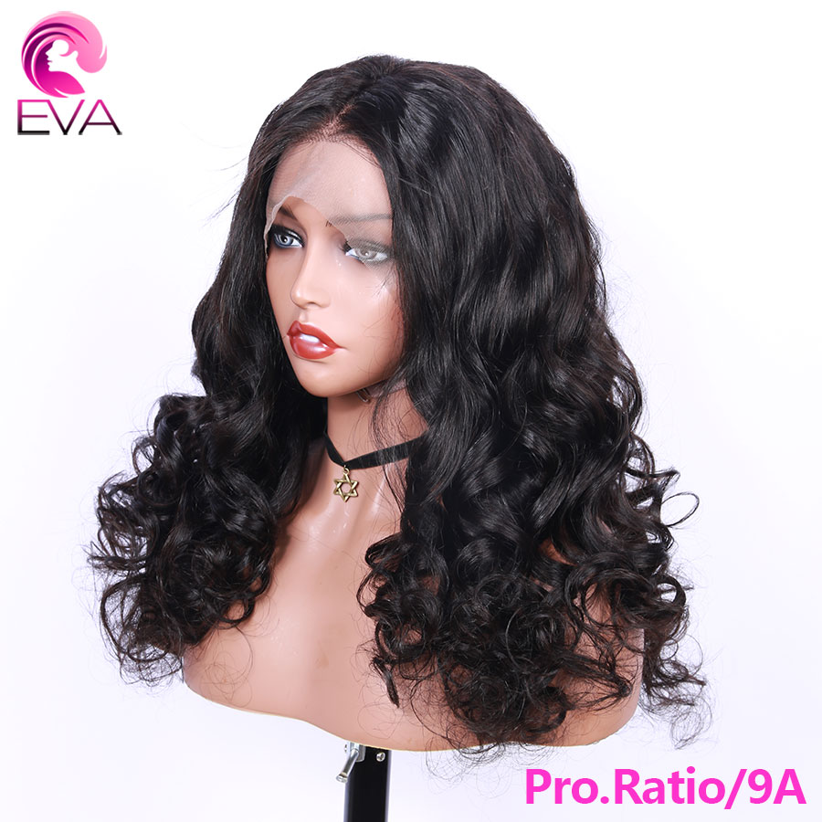 Eva Hair Pro.Ratio Full Lace Human Hair Wigs Pre Plucked With Baby Hair 150% Loose Wave Brazilian Remy Hair Wigs For Black Women