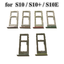 20Pcs/Lot Dual & Single Sim Tray For Samsung Galaxy S10 G973 S10+ Plus S10E Micro Sim Card Holder Slot Tray Replacement Part