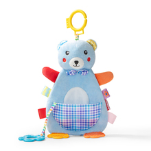 цены Infant Baby Plush Toy Crib Bed Stroller Hanging Ring Bell Toy Soft Baby Rattle Mobiles Early Educational Doll Plush Teether Toy
