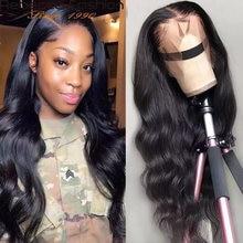 Дешевые волнистые волосы парик 13x6x1 Синтетические на кружеве