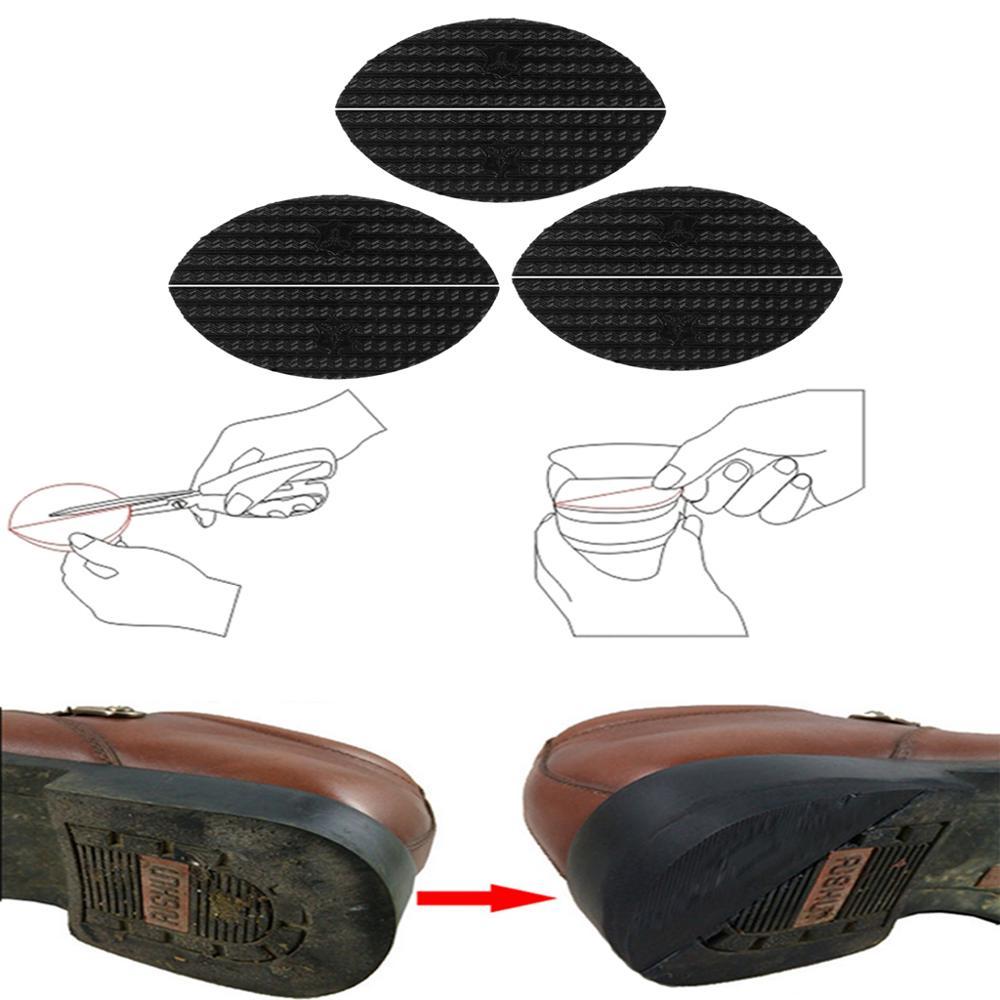 3 Pair Shoe Repair Rubber Shoes Boots Heels Sole Repair Plates Taps Guard Mats Rubber Shoe Soles Anti-slip Rubber Soles Repair