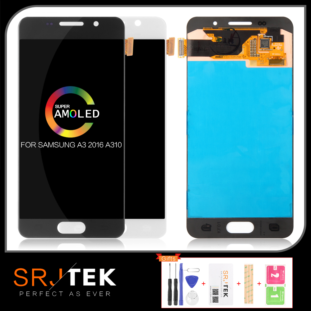 Warranty <font><b>AMOLED</b></font>/TFT LCD <font><b>Display</b></font> For SAMSUNG Galaxy A3 2016 Touch Screen Digitizer For SAMSUNG Galaxy A3 2016 A310 <font><b>A310F</b></font> SM-<font><b>A310F</b></font> image