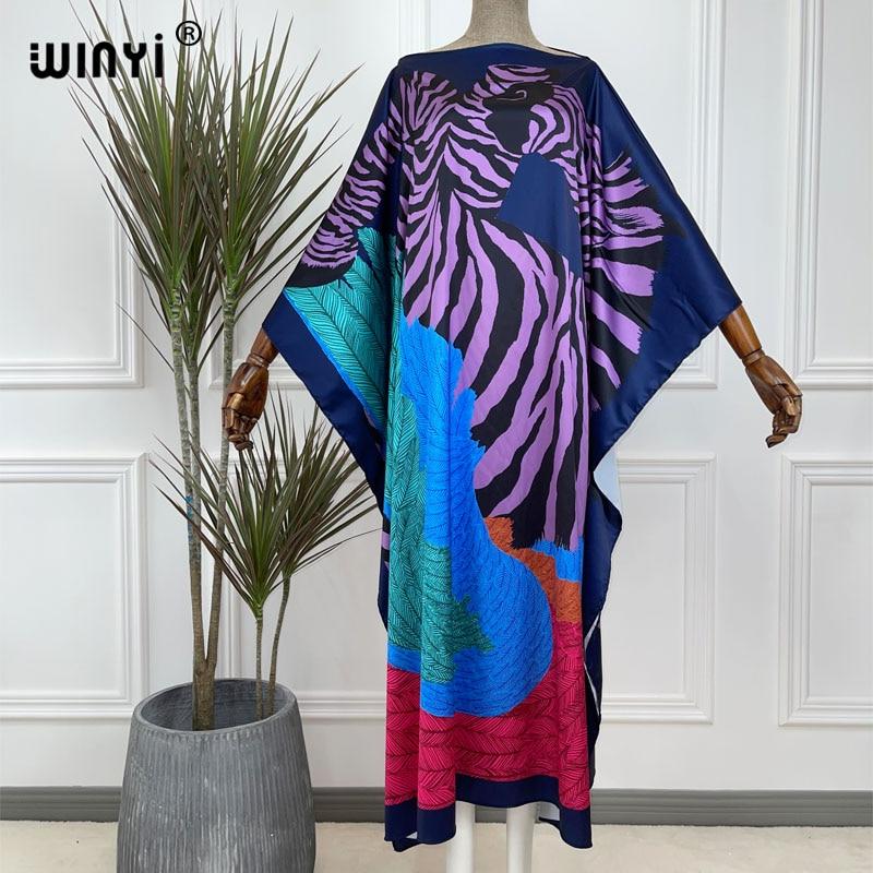 Middle East Dashiki Dress Print Bohemia Hijab Loose Elegant Muslim Abaya Bazin Robe Gown Broder Riche Sexy Lady Party maxi beach