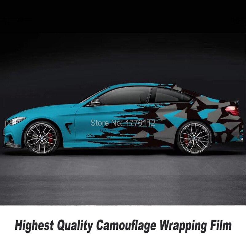 Высокое качество, камуфляжная виниловая пленка для автомобиля, Виниловая наклейка для автомобиля высокого класса, двусторонняя симметрия ...