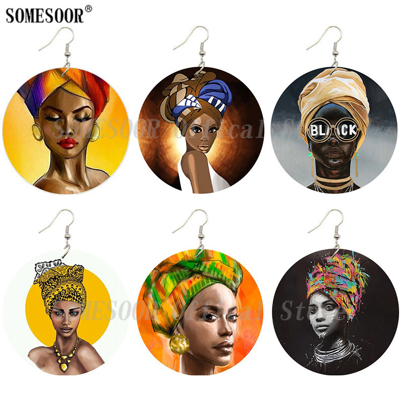 A Peace of Mind African Ethnic wooden earrings worded beatifully