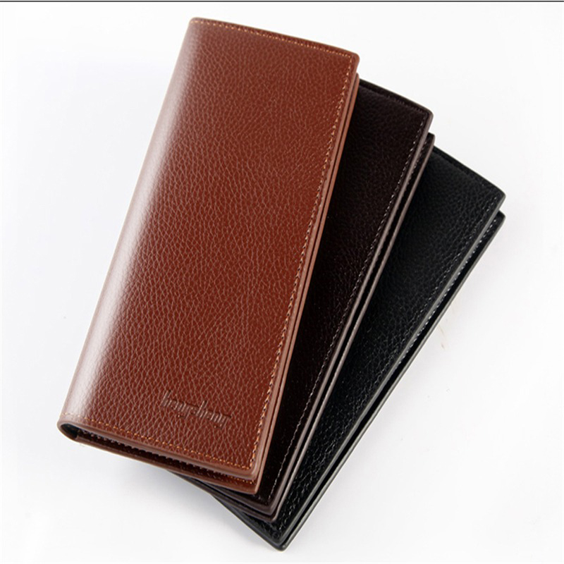 Men's Wallets Vintage Look Long Wallet PU Leather Wallet Men Male Purse Card Case Cash Holder  carteira feminina