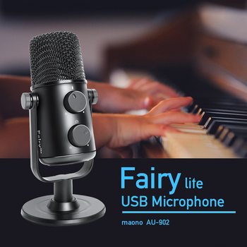 MAONO AU-902 USB Condenser Microphone Cardioid Sreaming mikrofon Podcast Studio Mic Metal Recording microfone for YouTube Skype 2