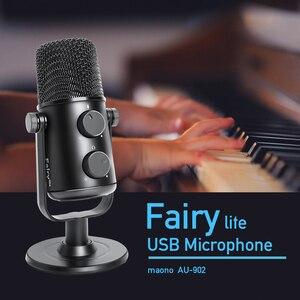 Image 2 - MAONO AU 902 USBคอนเดนเซอร์ไมโครโฟนCardioid SreamingไมโครโฟนPodcast StudioไมโครโฟนโลหะการบันทึกไมโครโฟนสำหรับYouTube Skype