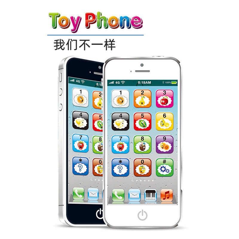 HOT Selling Popular Toy Mobile Phone Music Light Touch Screen Learning Toy for Children's Early Educational Toy