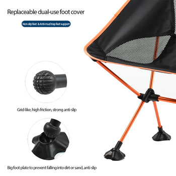 แบบพกพาเก้าอี้ดวงจันทร์น้ำหนักเบาตกปลา Camping BBQ เก้าอี้พับขยายเดินป่าที่นั่งสวน Ultralight Office Home เฟอร...