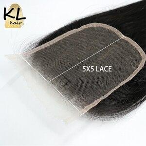 Image 4 - KL 5x5 גוף גל HD סגירת תחרה ברזילאי רמי שקוף תחרה סגר עם תינוק שיער עור להמיס בלתי נראה שיער טבעי סגירה
