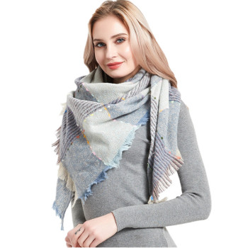 2020 Winter Triangle Scarf For Women Cashmere Plaid Scarves Luxury Brand Ladies Blanket Shawls and Wraps Foulard Femme Pashmina woman winter wool scarf blanket plaid oversize wraps with tassel ladies soft warm pashmina foulard femme big blanket scarves