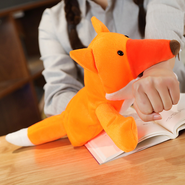 1pc 25CM Plush Hand Puppet Soft Animals Puppet Bird Fox Plush Toys Hand Puppet For Kids Baby Adult Pretend Playing Dolls Gift