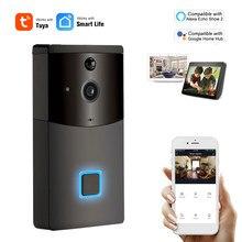 Wi fi inteligente campainha de segurança 1080p sem fio interfone visual vídeo porta telefone tuyasmart remoto compatível com alexa google casa