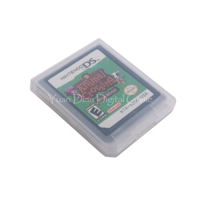 For Nintendo DS 2DS 3DS Video Game Cartridge Console Card Animal Crossing Wild World English Language US Version