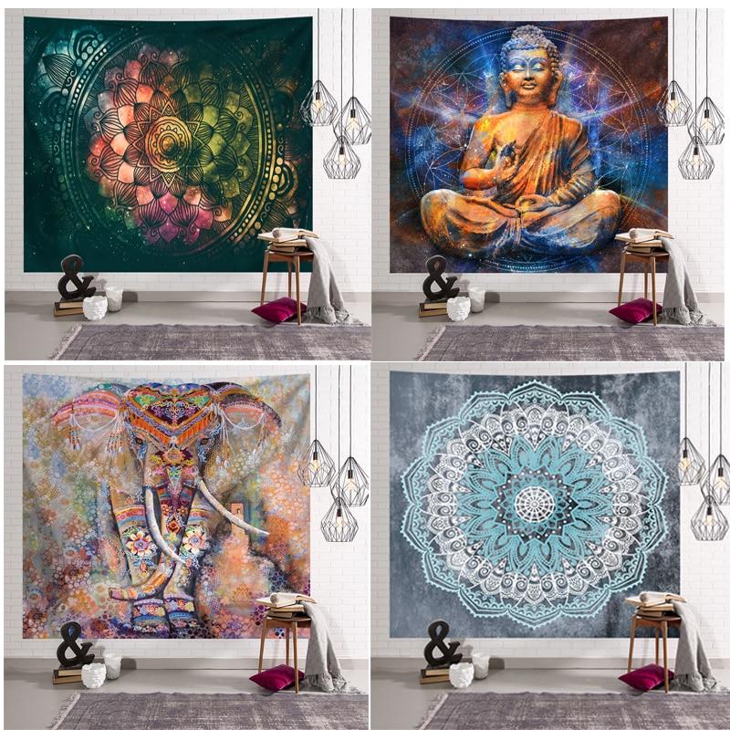 Mandala Tapestry Hippie Indian Bohemian Wall Decoration Wall Hanging Bohemian Yoga Mat Throw Blanket Carpet Bedroom Decor
