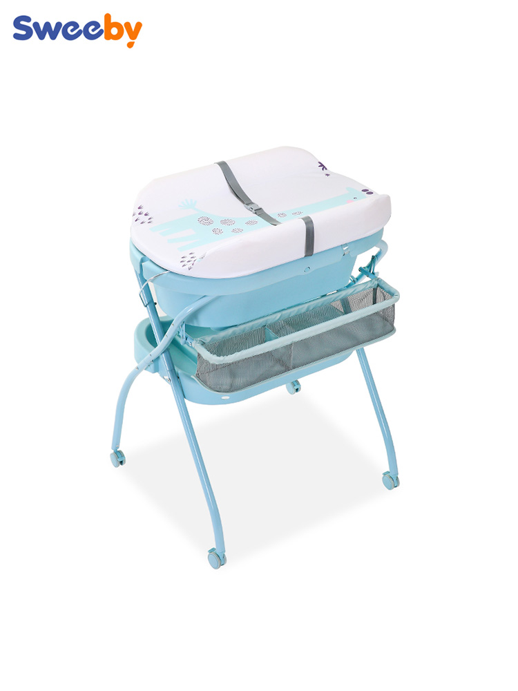 Multifunction Diaper Table Newborn Care Station Baby Nursing Bathroom Change Massage Touch Foldable