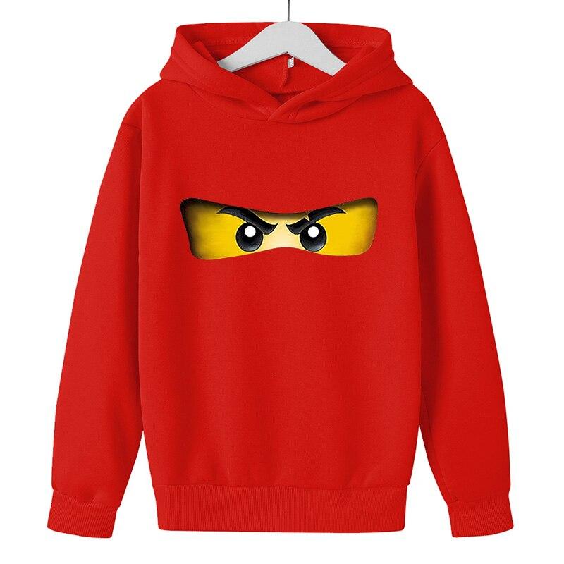 Cartoon comic Pullover kid top Autumn winter Clothes Ninjago hoodie Boy cotton Long sleeve Casual Sweatshirt Legoe Toy printing 6
