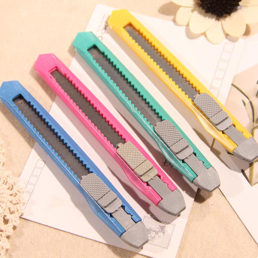 1 PC Box Cutter Utility Knife Snap Off Retractable Razor Blade Knife Tool Cutting Paper