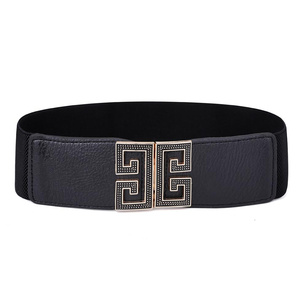 Women's Scalable PU Leather Hang Buckle Belt Foldable Convenient Fashion Elegant Waist Belts