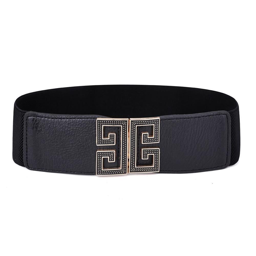 Women's Scalable PU Leather Hang Buckle Belt Foldable Convenient Fashion Elegant Waist Belts