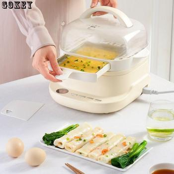 Steam Cooker Machine Electric Steaming Drawer Type Intestine Powder Machine Food Warmer Sausage Food Steamer EU/AU/UK/US 220v 110 220v 32 grids commercial electric kanto cooking machine oden machine wooden anti scald spicy hot pot meatball eu au uk us