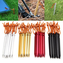 1pcs Curving Ground Spike Tent Peg Aluminum Alloy Tent Peg Stake Pin Nail Outdoor Hiking Trip Camping Tent Accessories(China)