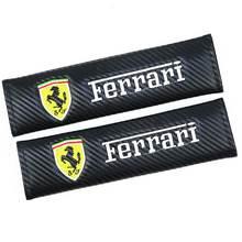 Assento de carro Pads cinto de segurança Shoulder Strap Pad capa de almofada para a Ferrari California GTC4 Lusso F430 458 488 599 Roma Car-Styling