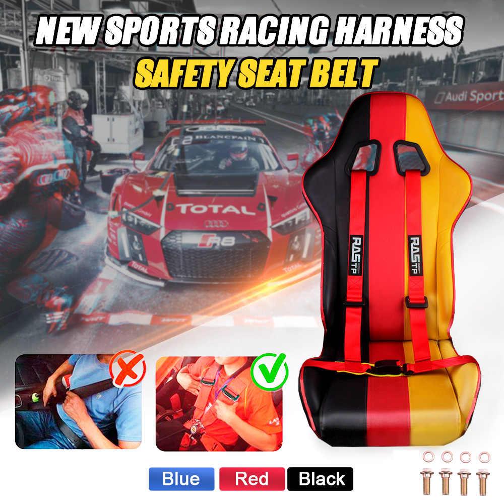 RASTP-Universale 2 pollici 4 Punti Racing Cintura di Sicurezza di Sicurezza del Cablaggio Rosso/Blu/Nero Sport Corse Al Trotto cintura di sicurezza RS-BAG032-TP