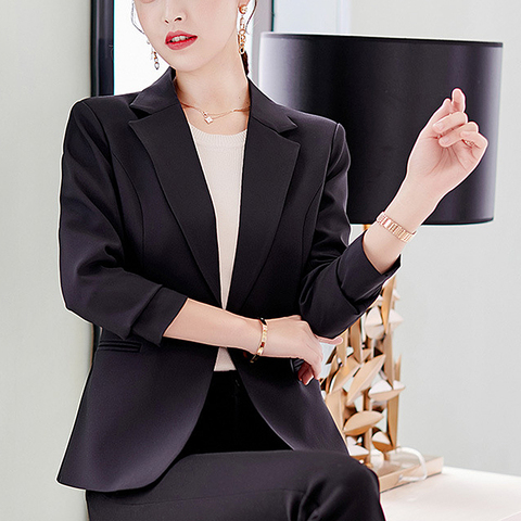 HEFLASHOR 2019 Fashion Office Lady Blazers Women Slim Turn Down Collar Blazer Mujer Retro Button Casual Suit Jackets Autumn Islamabad