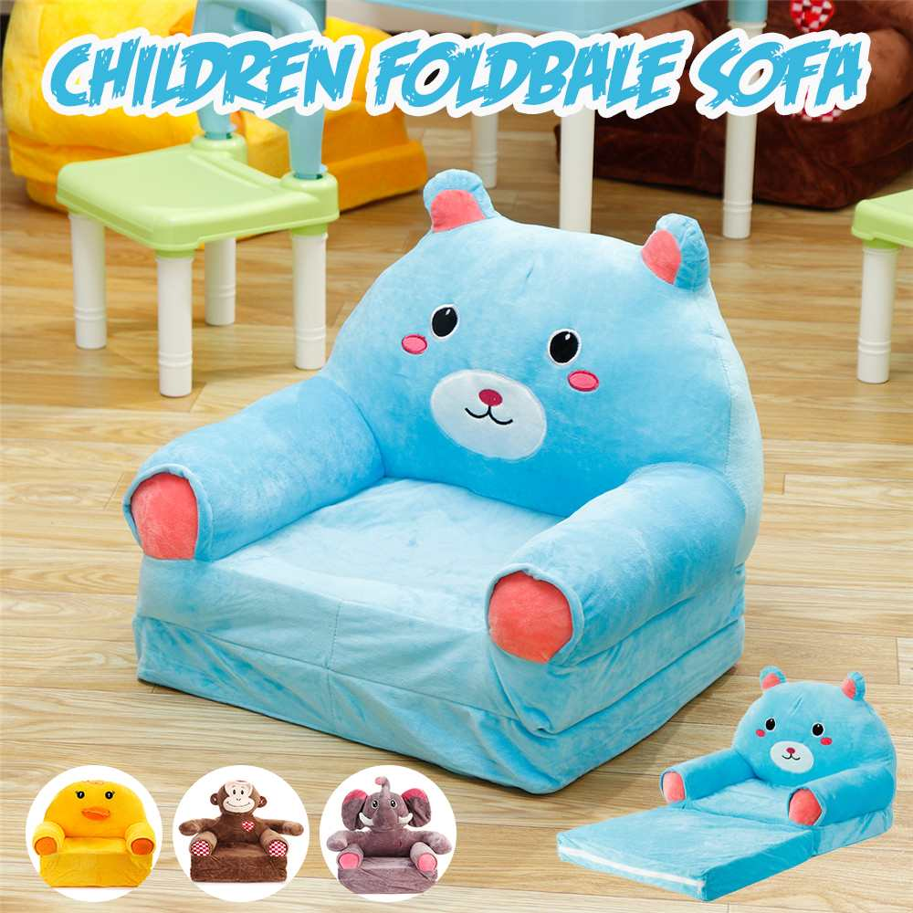 cartoon animal foldable armchair stuffed plush toys sofa bed for kids baby chair chaise lounge for children birthday gift