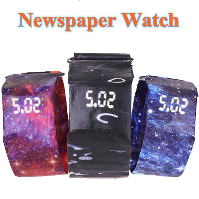 Fashion Creative Watches Paper Led Watches Men Watches Waterproof Electronic Wristwatches Men Digital Watches reloj hombre
