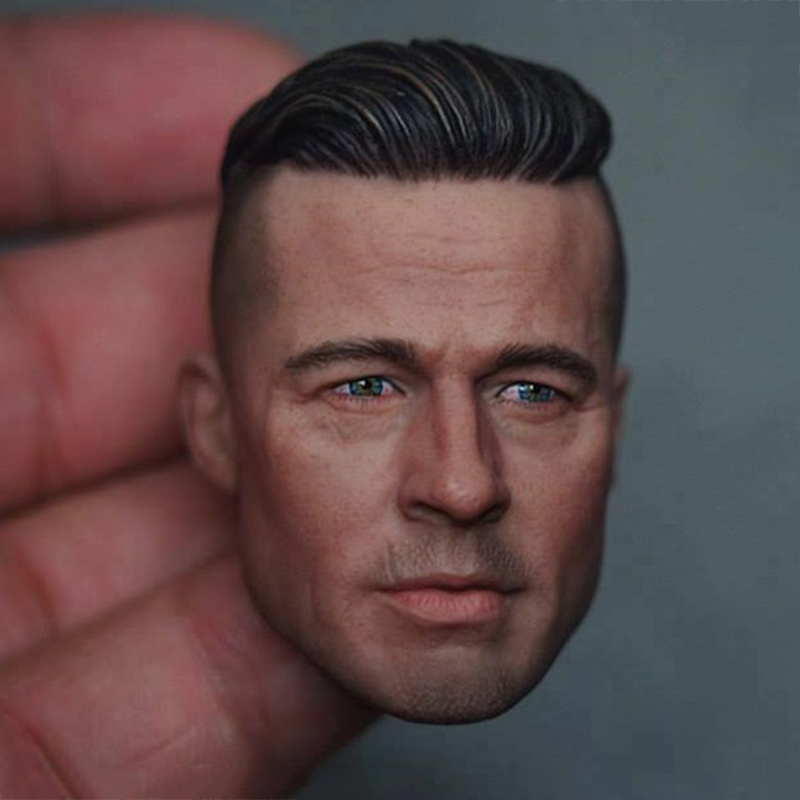 1/6 scale figure soldier Brad Pitt head model fits 12-inch Action figure accessories