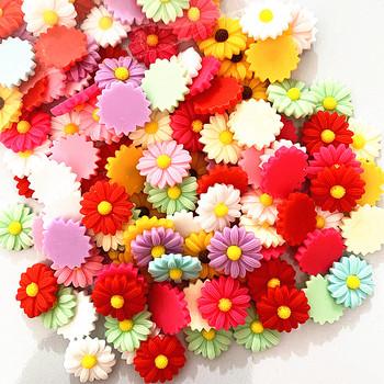 20-50 sztuk 23mm żywica daisy kwiat diy włosy naturalne dodatki do biżuterii tanie i dobre opinie