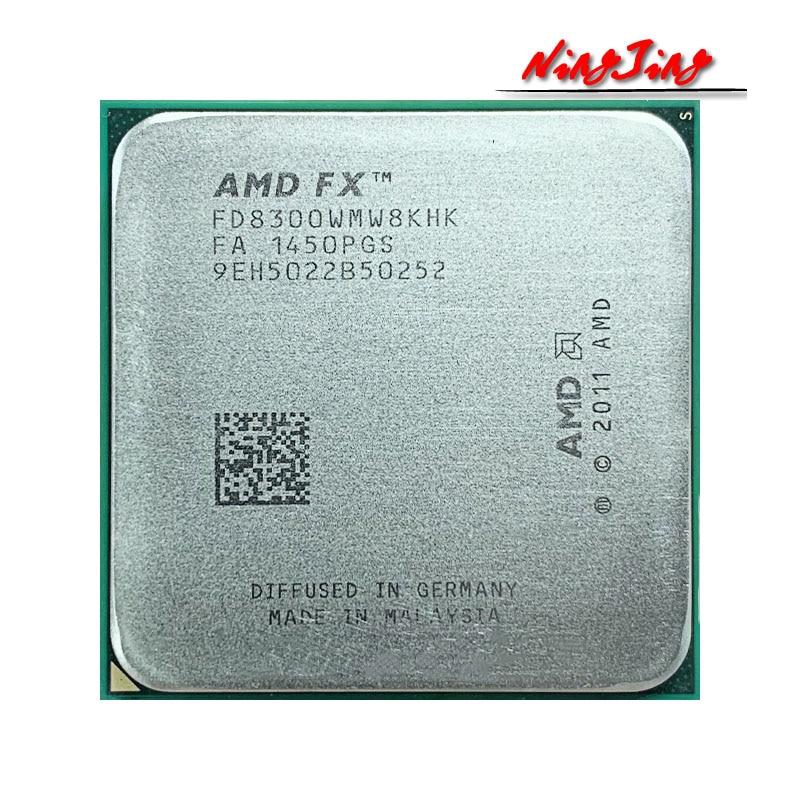 AMD FX-8300 FX 8300 FX8300 3.3 GHz Eight-Core 8M Processor Socket AM3+ CPU 95W Bulk Package FX-8300 2