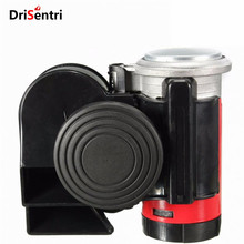 12V 139dB Black Snail Compact Dual Air Horn for Car Vehicle Motorcycle Yacht Boat SUV Bike New