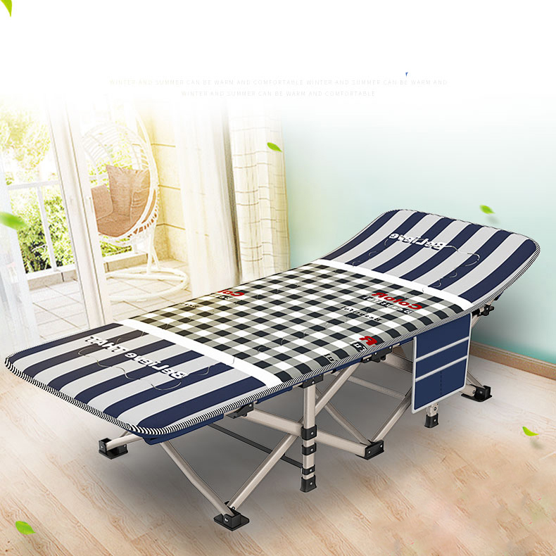 Office Siesta Bed Napping Sheets Folding Bed Hospital Escort Outdoor Simple Beach Camp Bed