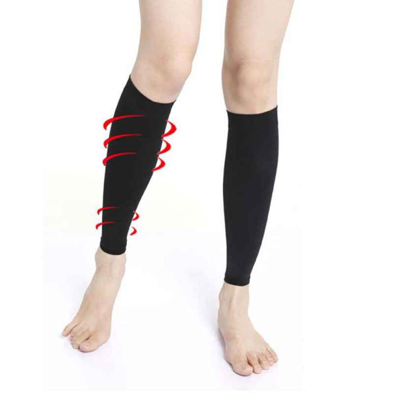 Bas 1 paire élastique soulager jambe mollet manches varices veine Circulation Compression bas soin jambe soutien cheville Stocking1
