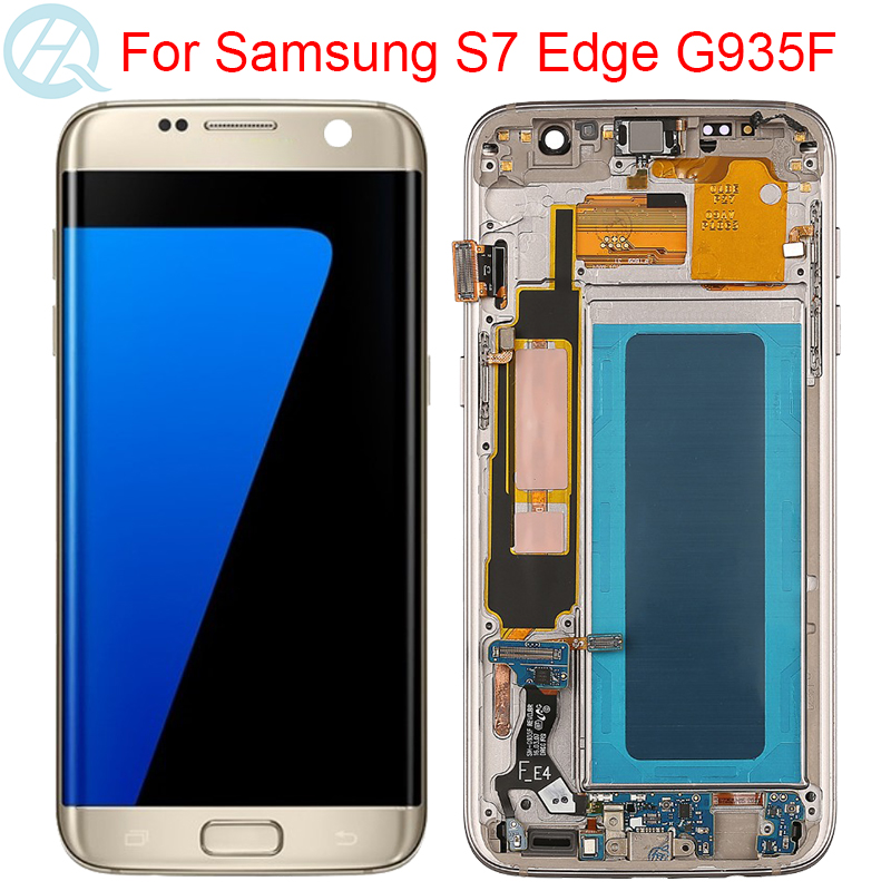 No Defect LCD For <font><b>Samsung</b></font> <font><b>Galaxy</b></font> <font><b>S7</b></font> Edge G935F <font><b>Display</b></font> With Frame Touch Screen Assembly SM-G935F LCD Screen image