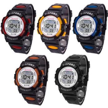 Waterproof Children Casual LED Sports Digital Watch Kids Alarm Date Wristwatch Clock Boys Gift Reloj Hombre Relogio Masculino 1
