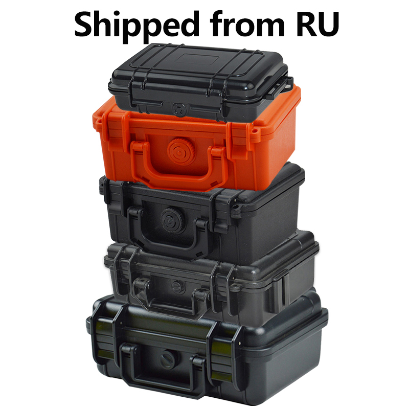 ABS Plastic Tool Case Waterproof Dry Box Safety Equipment Case Portable Outdoor Survival Vehicle Tools Anti collision Containercontainer waterproofcontainer box casecontainer case -
