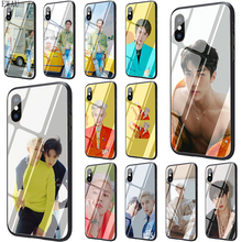 Get more info on the EWAU SEHUN CHANYEOL Tempered Glass phone case for iphone 5 5s SE 6 6s 7 8 plus X XR XS 11 pro Max