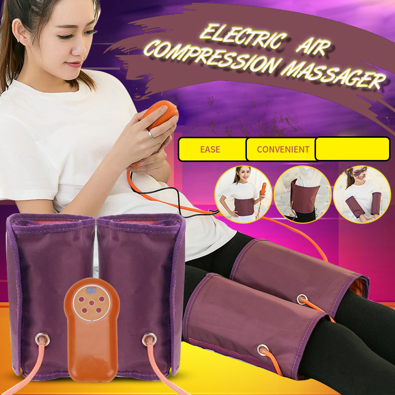 Air Compression Leg Massager Electric Blood Circulator Heating Waist Massage Machine For Body Arm Hip Calf Therapy Pain Relief
