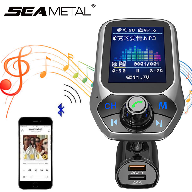 Car SUV Bluetooth Wireless Phone AUX Handsfree Audio MP3 Player FM Auto Speaker