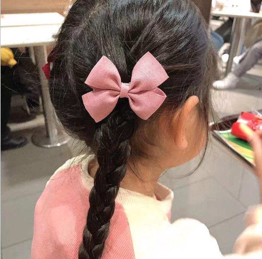 6pcs/set New Women colorful Bow Hairpins kids Girls Lovely Hair Clips Hair Ties Ropes Headwear Korea Hair Accessories Hairgrips