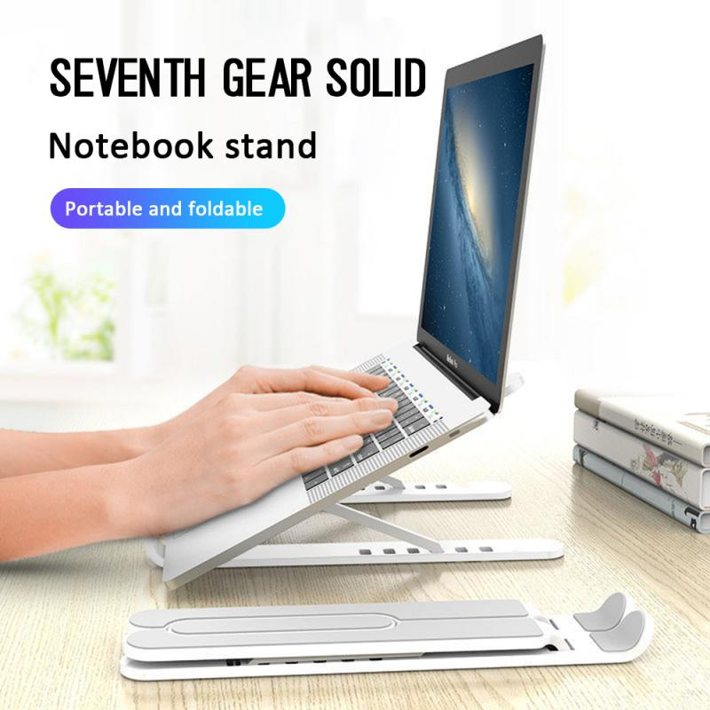 Adjustable Foldable ABS Laptop Tablet Stand Portable Desktop Holder Mounts Laptop Accessories For Macbook Pro Air Notebook Stand