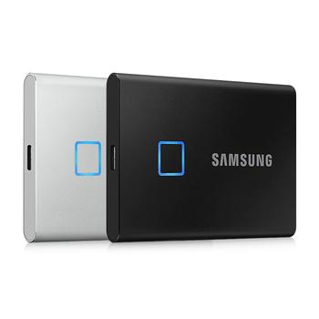 Samsung T7 Touch SSD 500GB 1TB rozpoznawanie linii papilarnych odblokuj przenośny interfejs typu C dysk półprzewodnikowy do laptopa tanie i dobre opinie 2 5 USB 3 1 typu C Zewnętrzny Pulpit 500GB 1TB Black Silver 1TB External SSD Fingerprint Recognition Unlock Portable SSD