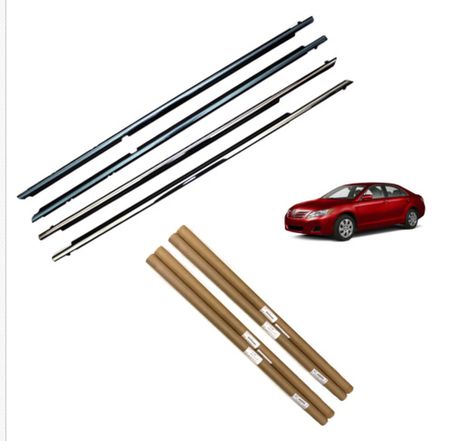 4PCS Weather Moulding Trims Door Belts for Toyota Camry 2007 2008 2009 2010 2011 Front&Rear Left+Right Set|Auto Seals| |  - title=