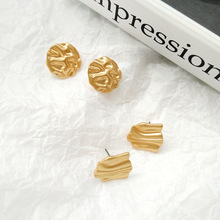European and American metal simple irregular geometric earrings personality hip-hop stud female gift
