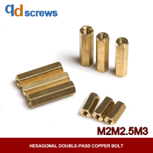 M2M2.5M3M4 Hollow Copper six angle isolation column with internal thread Column with Hexagonal Double-pass Copper bolt YJT 1046 стоимость